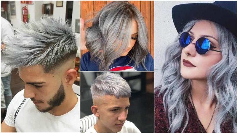 fotos de cabelo cinza