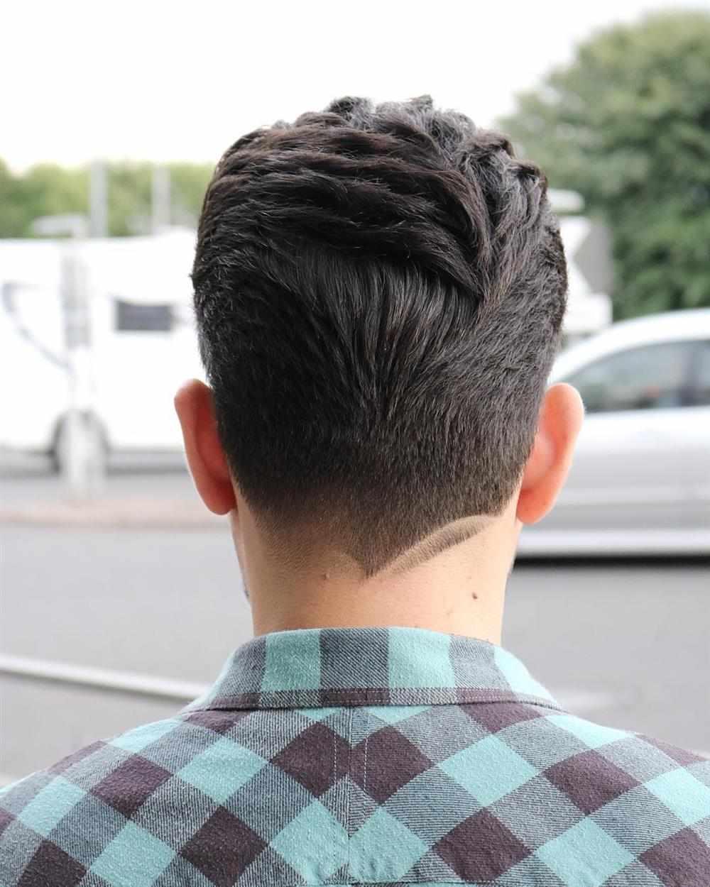 risquinho no cabelo