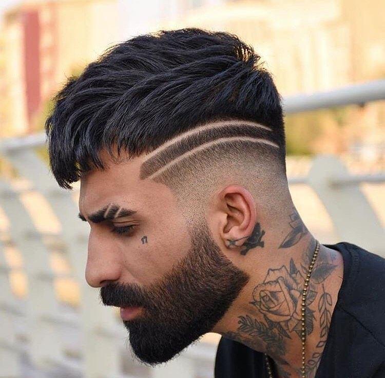corte de cabelo com 2 riscos