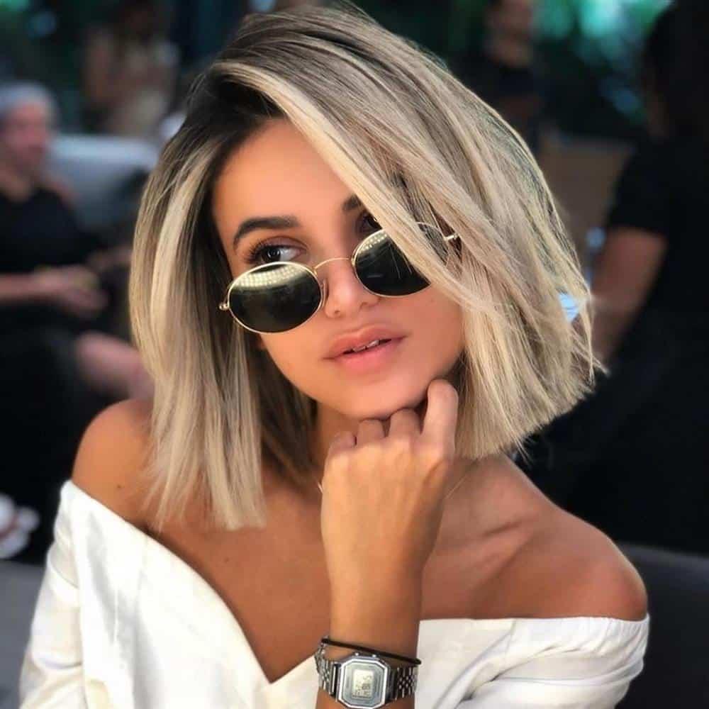 corte de cabelo assimetrico liso