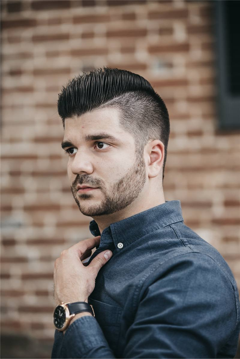 corte de cabelo masculino arrepiado