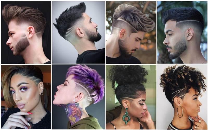 moda listra no cabelo