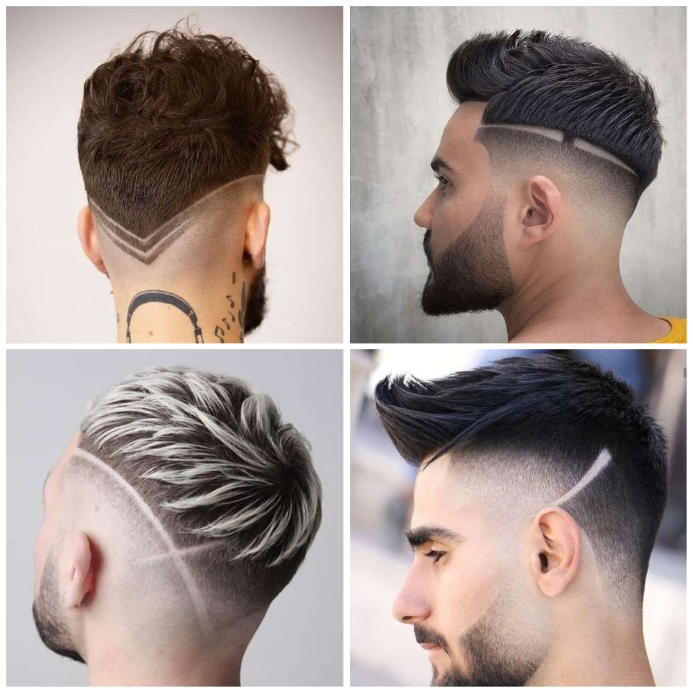 cabelo masculino com risco