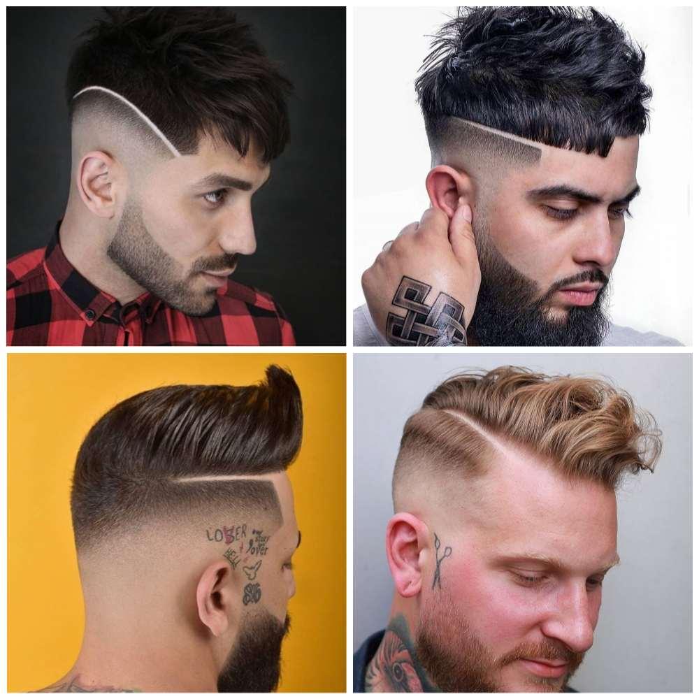 listra em cabelo de homem