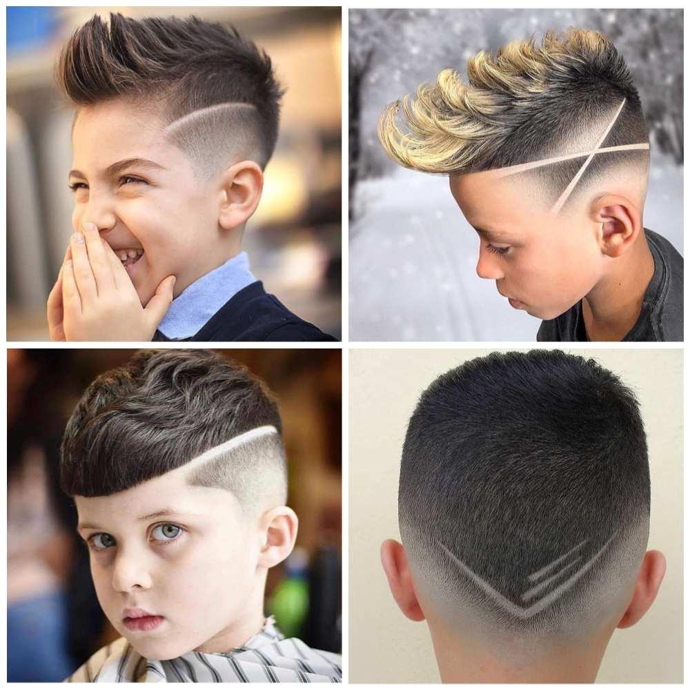 cabelo infantil com listra