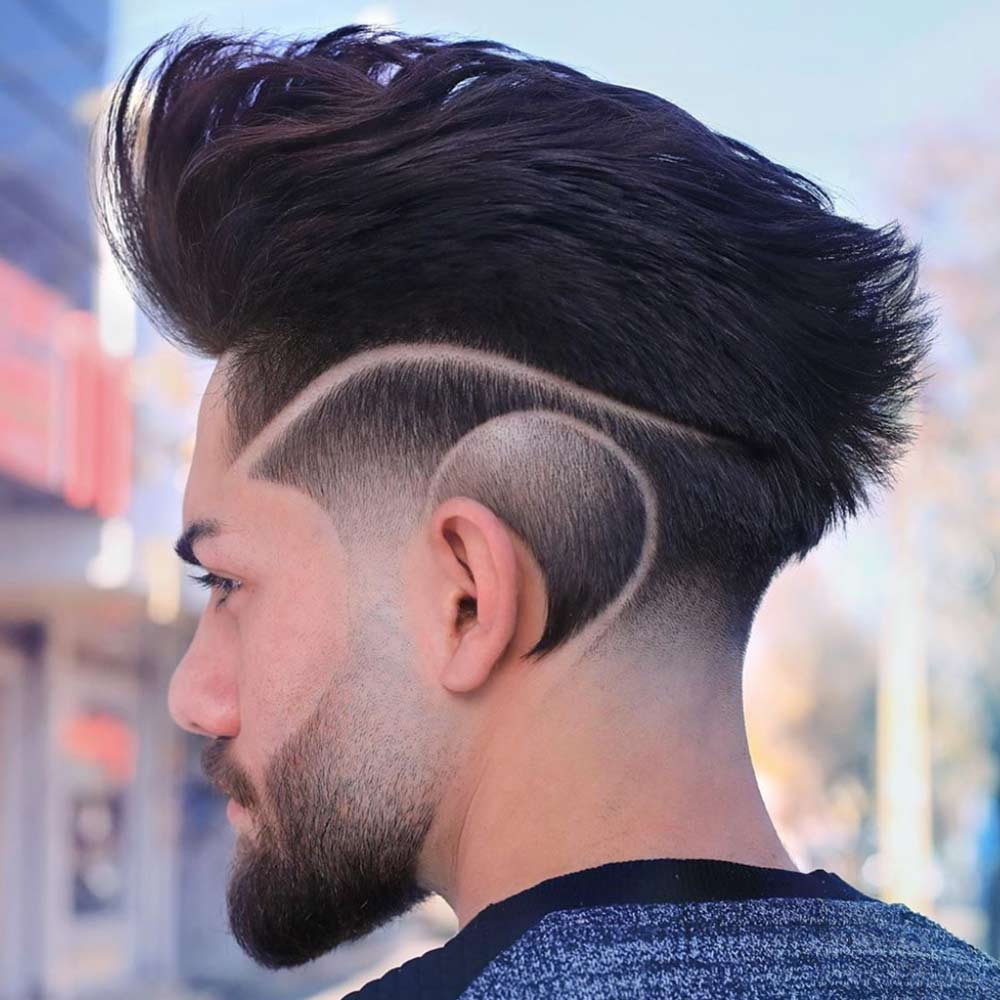 listra na lateral do cabelo