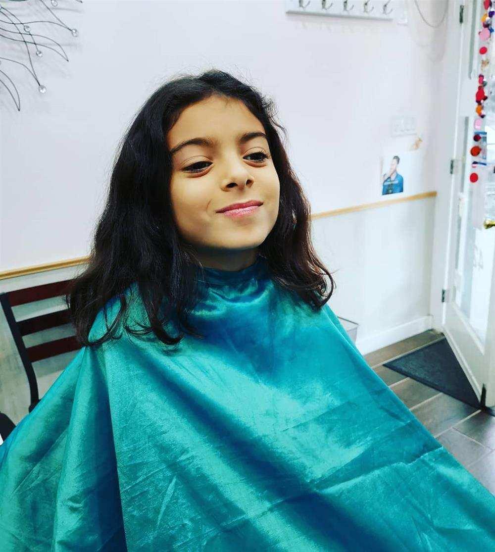 corte de cabelo infantil feminino ondulado