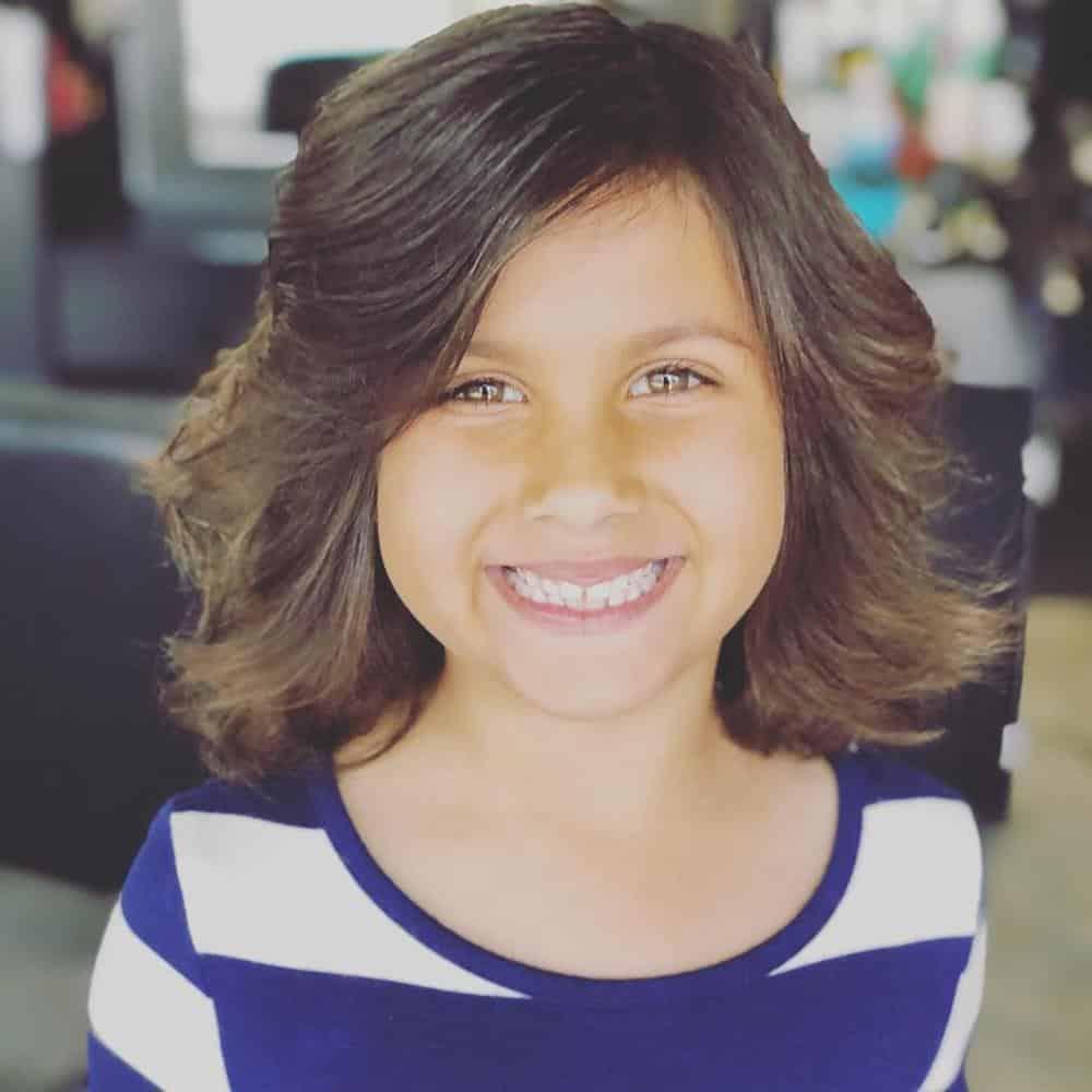 corte de cabelo infantil feminino curto e volumoso