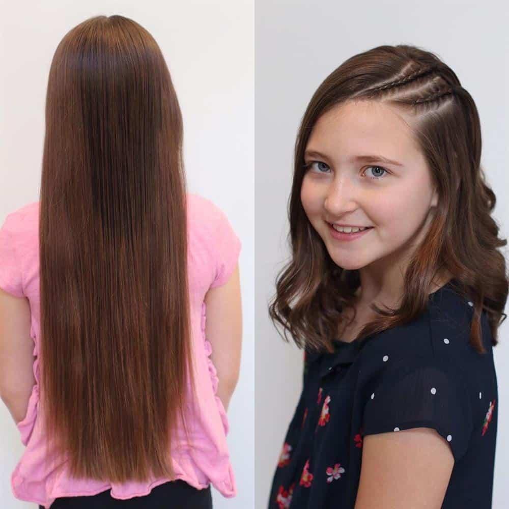 corte de cabelo infantil antes e depois