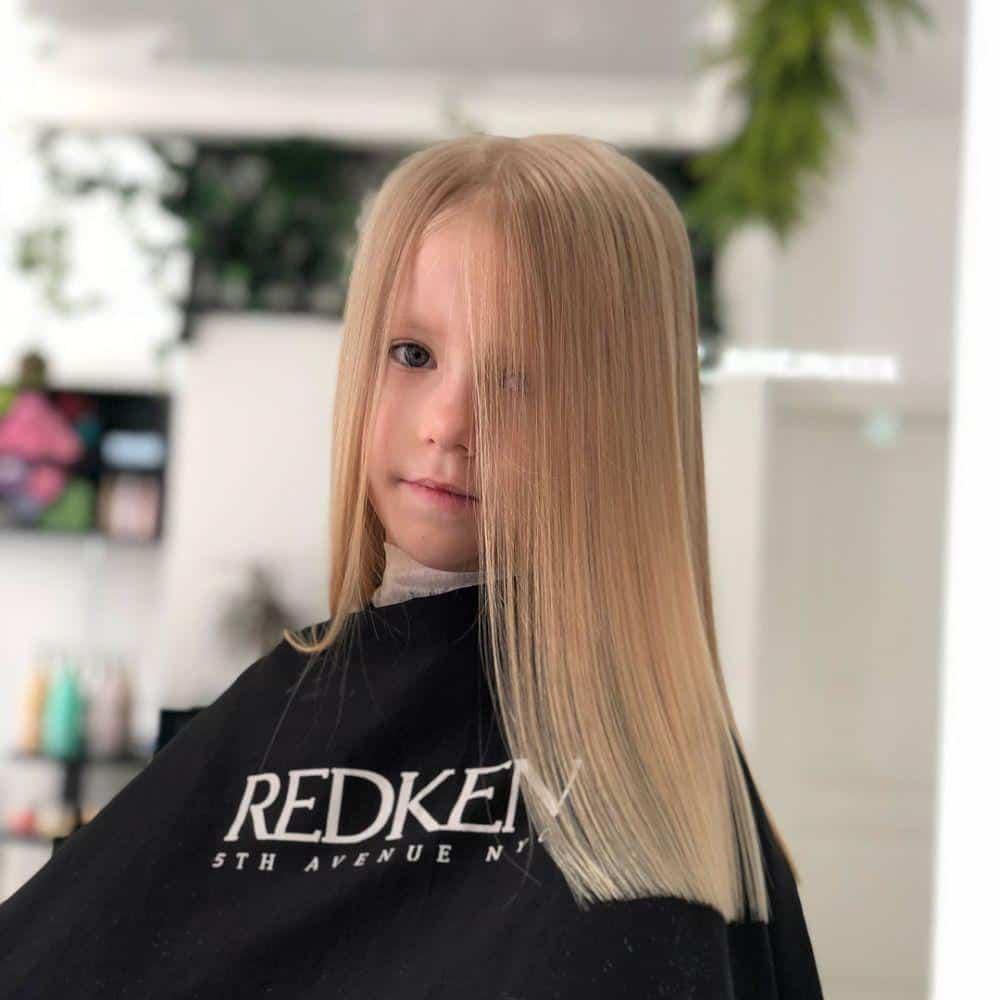 corte de cabelo infantil feminino longo