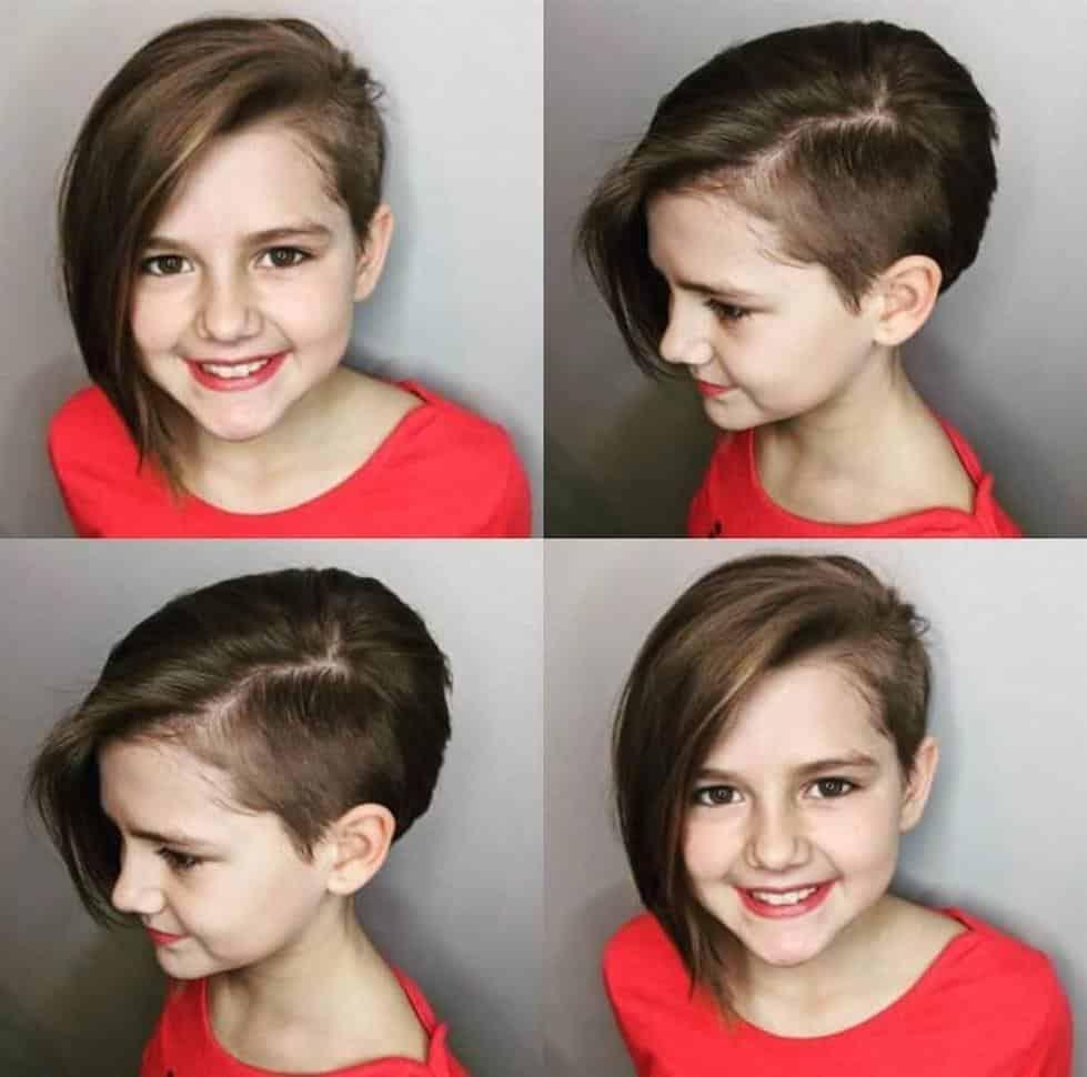 cabelo curto de um lado e comprido do outro