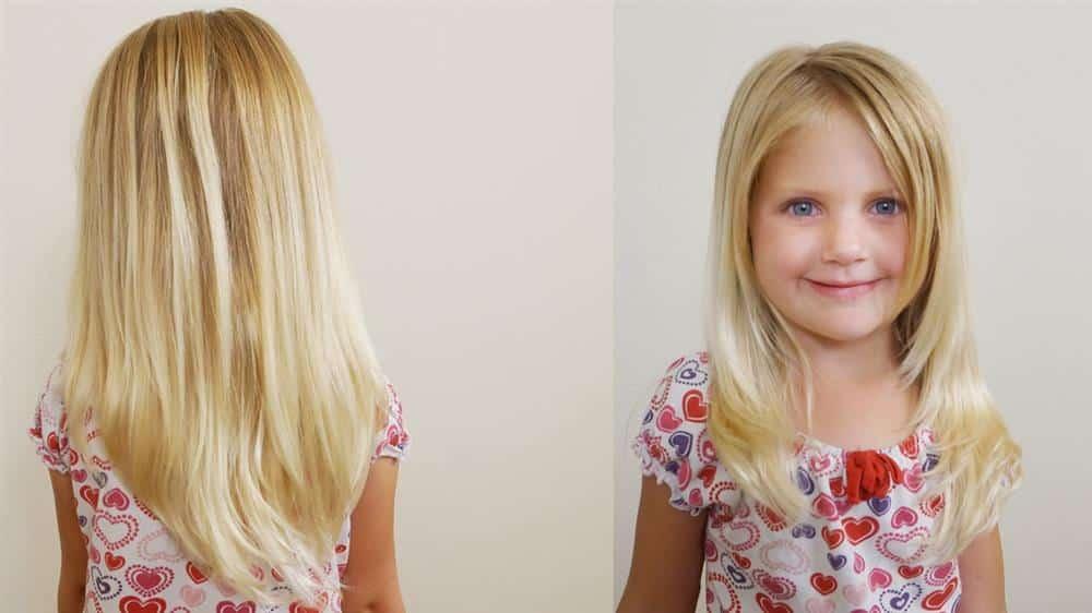 corte de cabelo infantil feminino desfiado na frente