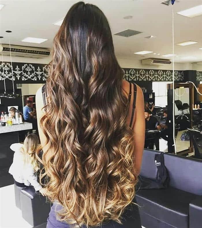 Cortes de cabelos longos 2021 com ombre hair