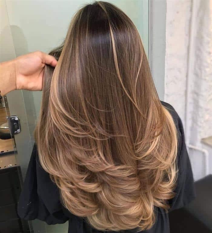 Cortes de cabelos longos 2021 em  loiras