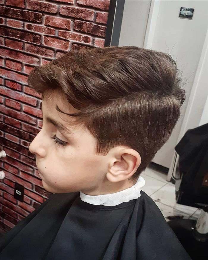 corte de cabelo masculino infantil com franja