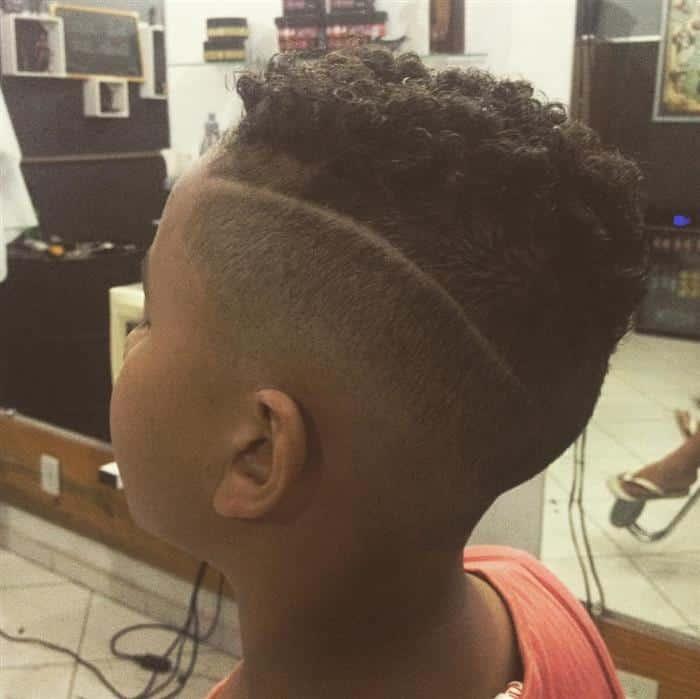 corte de cabelo masculino infantil degrade crespo