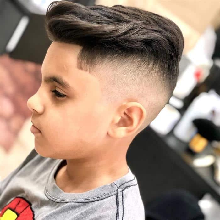 corte de cabelo masculino infantil para cabelo liso