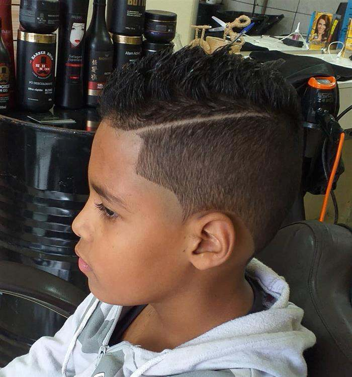cortes de cabelo masculino infantil com risco