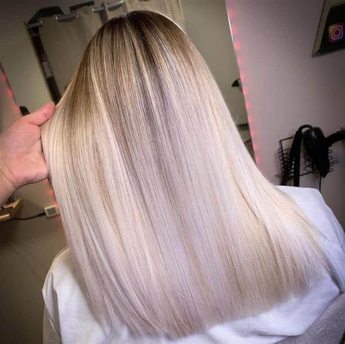 corte cabelo medio e liso