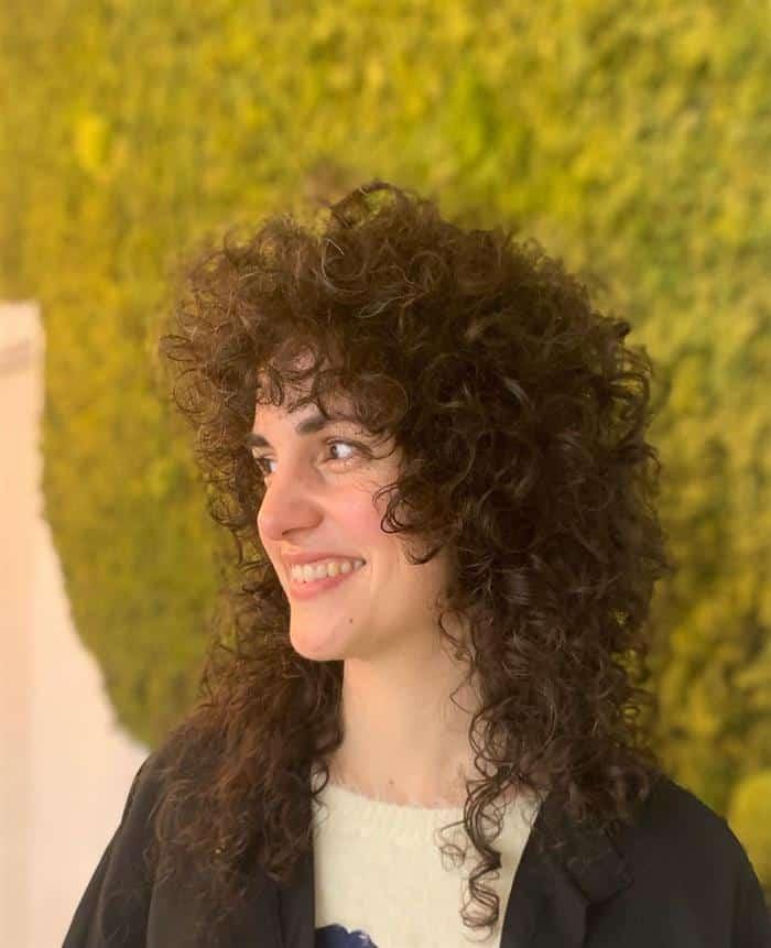 corte cabelo medio encaracolado