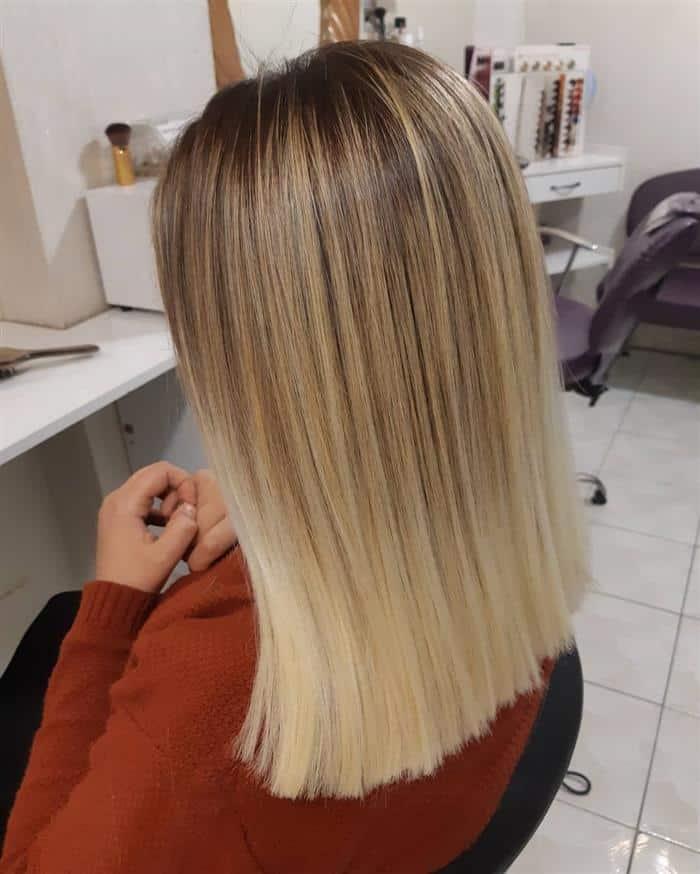 corte de cabelo medio base reta