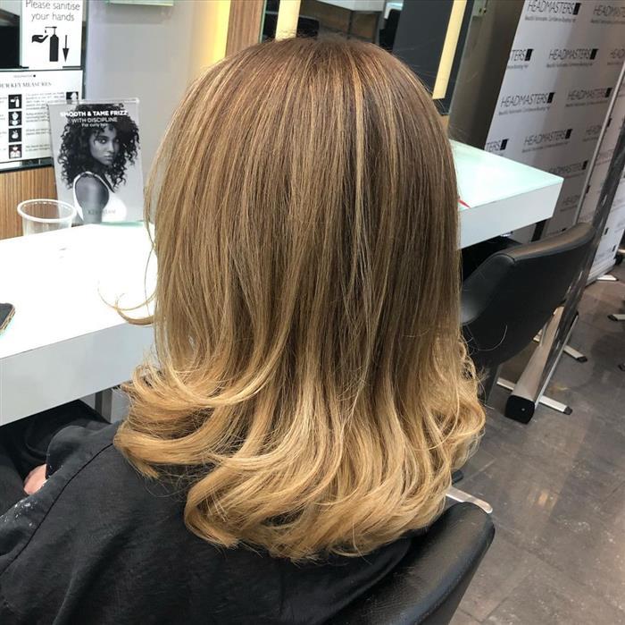 corte de cabelo medio c franja