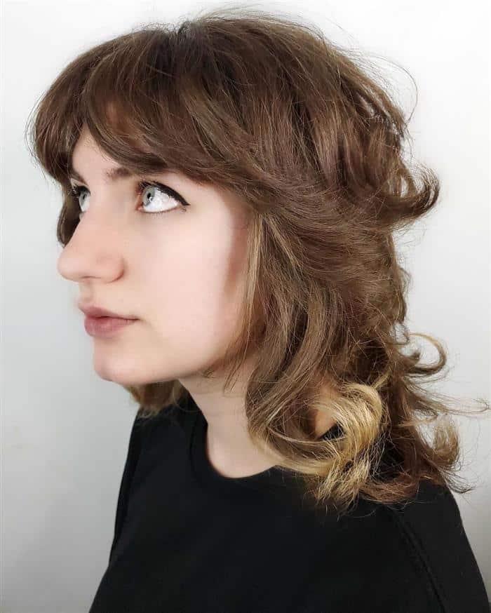 corte de cabelo medio com ombre hair