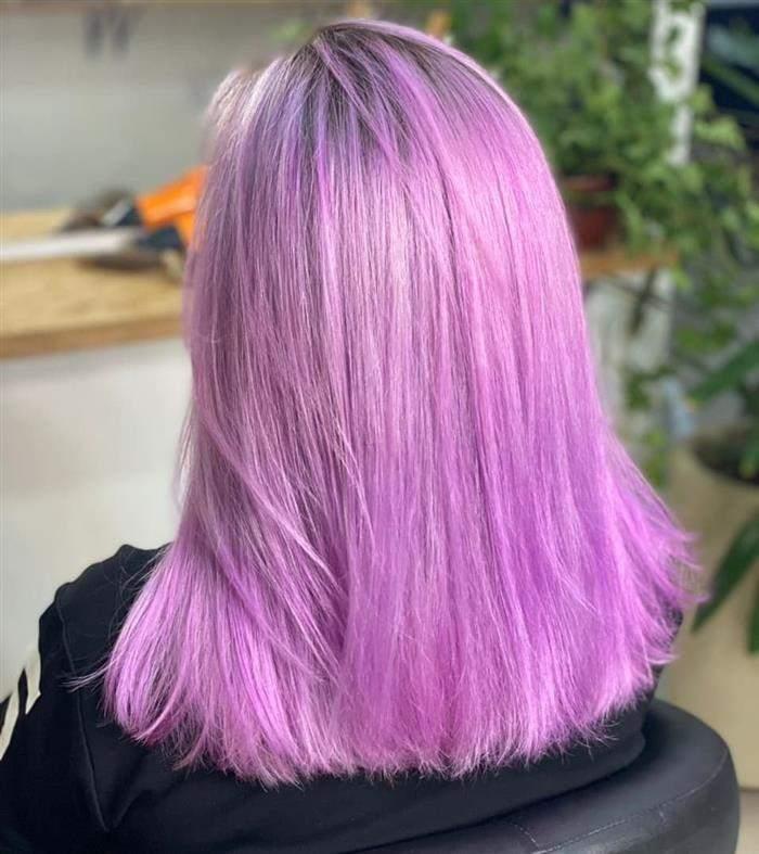 cabelo descolorido roxo