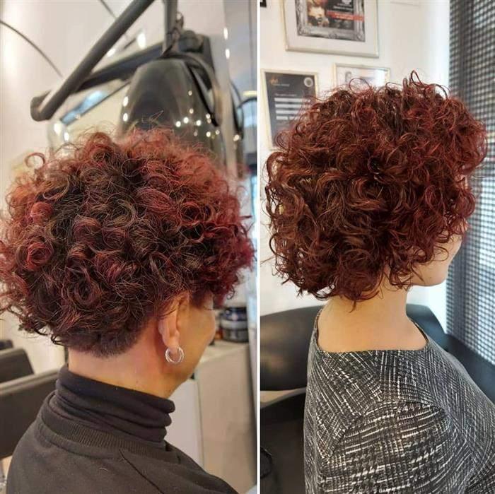 cor de cabelo acaju