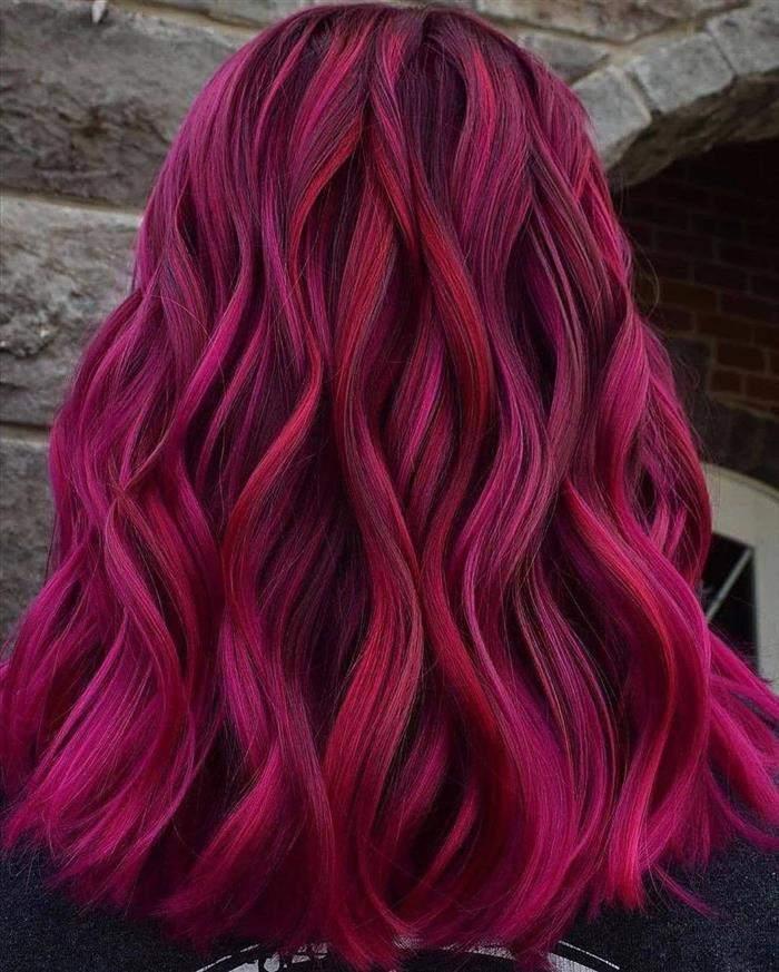 cores de cabelo na cor marsala