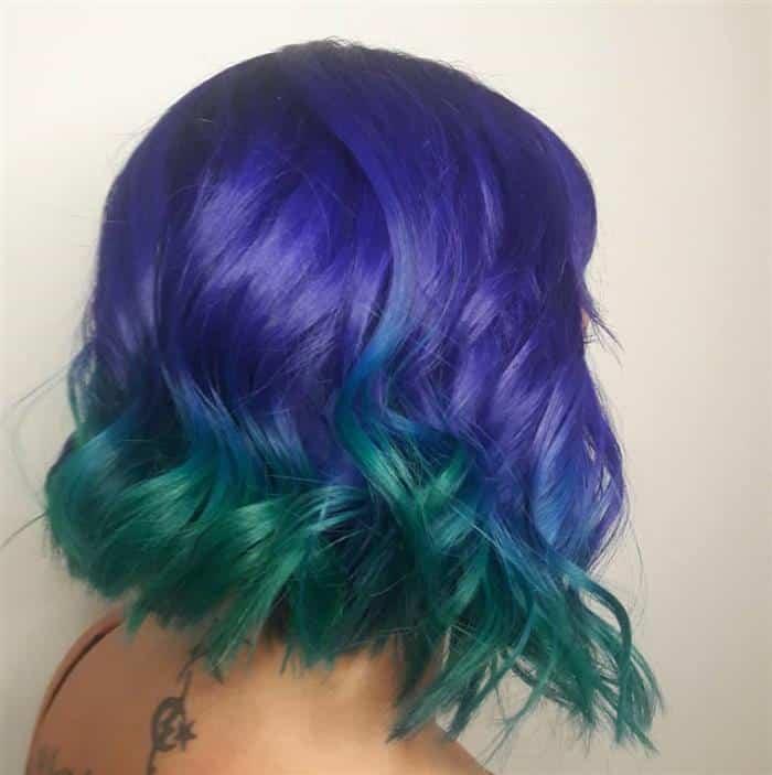 cores de cabelo no momento