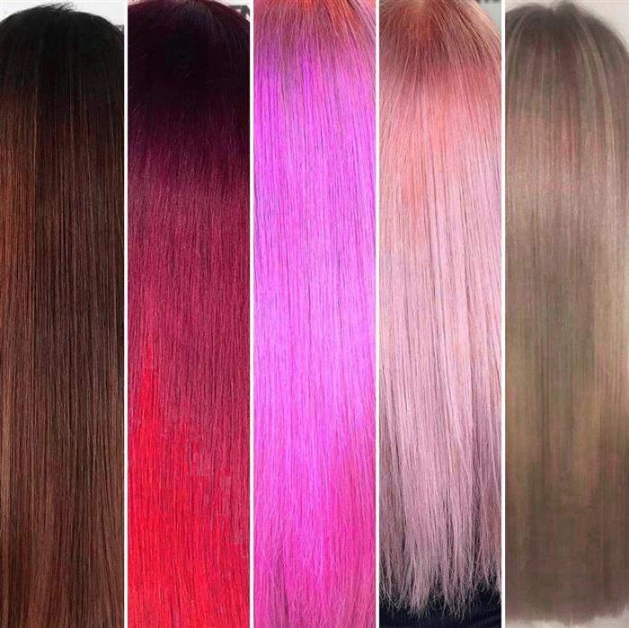 tons de cores de cabelo