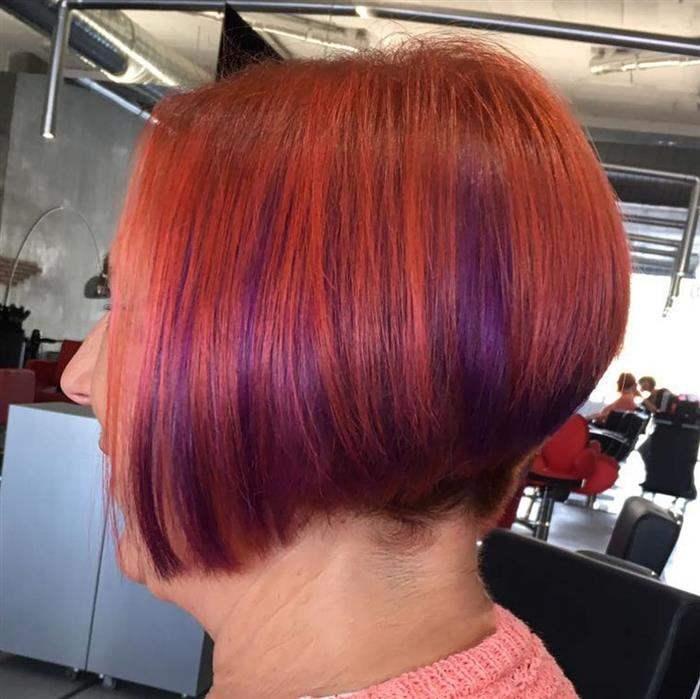 cabelo com mecha cobre