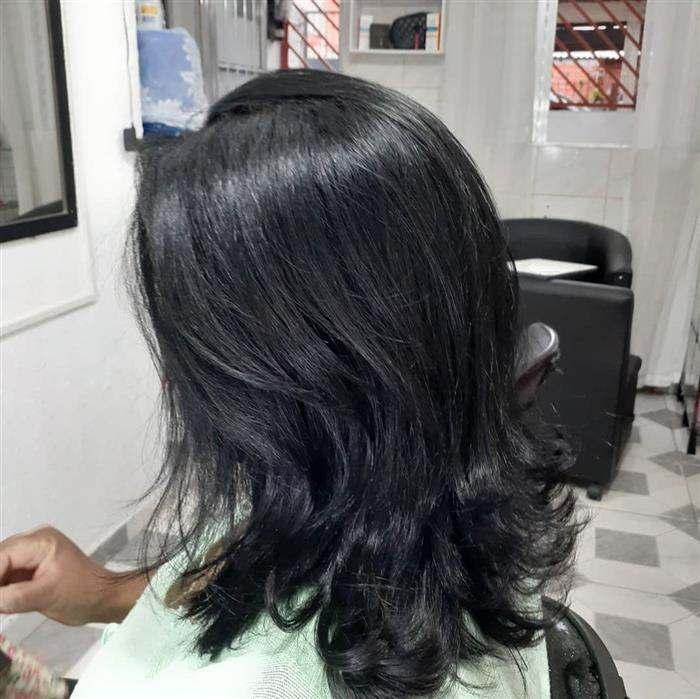 corte em camadas do cabelo
