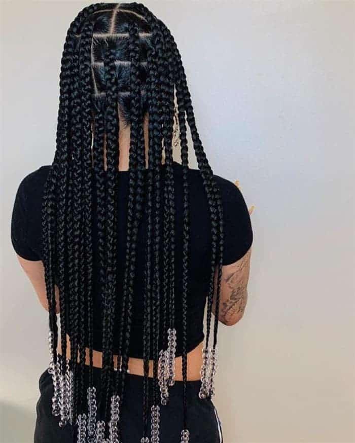 box braids comprimento