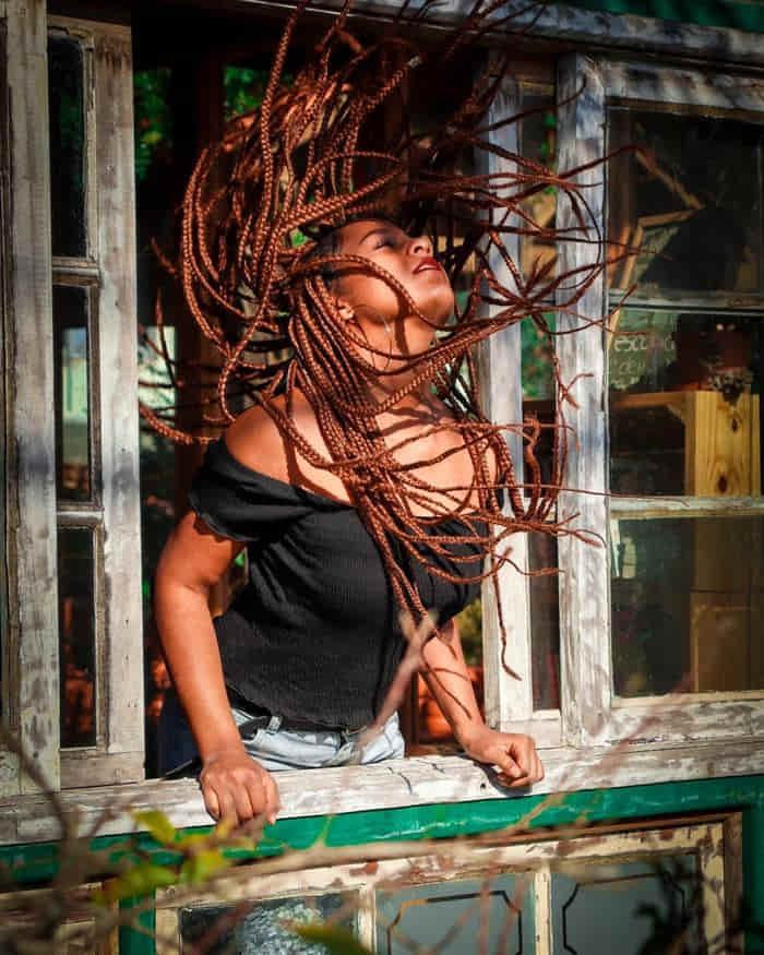 box braids de linha crochê